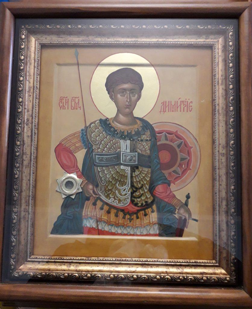 Мощи святых вмч. Димитрия и блж. Матроны